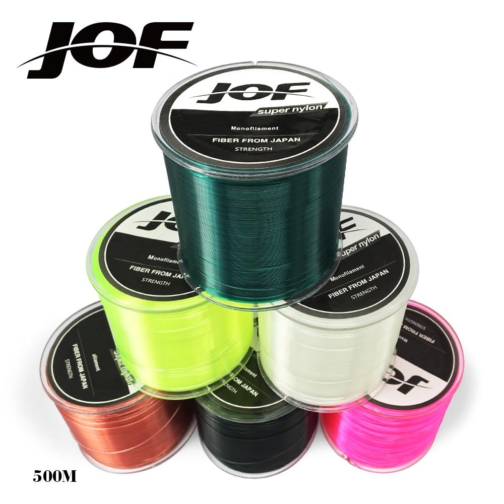 JOF Marke angelschnur Super Strong Japan Monofilament Nylon 500 mt diawa Angelschnur 5 LB-30 LB