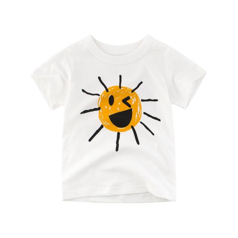 Kids Boys Tops T Shirt Cotton Casual Tops T-shirts Children Clothing Cartoon Print Short Sleeve Girls Tee 2-10Y