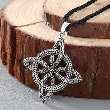 CHENGXUN hommes Viking surmonter lherbe amulette slave fougère fleur protéger contre les maladies collier amour noeud amulette bijoux