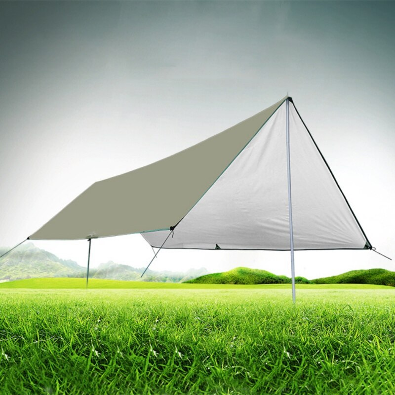 Ultralight Tarp Outdoor Camping Survival Sun Shelter Shade Awning Silver Coating Pergola Waterproof Beach Tent
