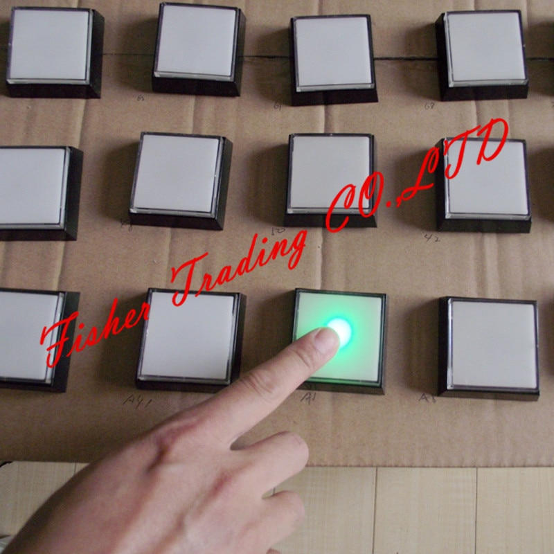 real life room escape prop, memory prop, changing color buttons for room escaping game enlarge