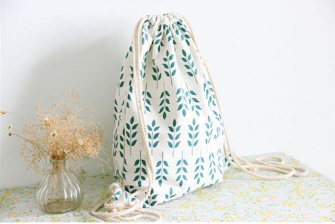 AliExpress - Handmade Linen Drawstring Bag wheat Women Backpack Students Travel Book Satchel Shoulder Bag School Bags For Teenagers
