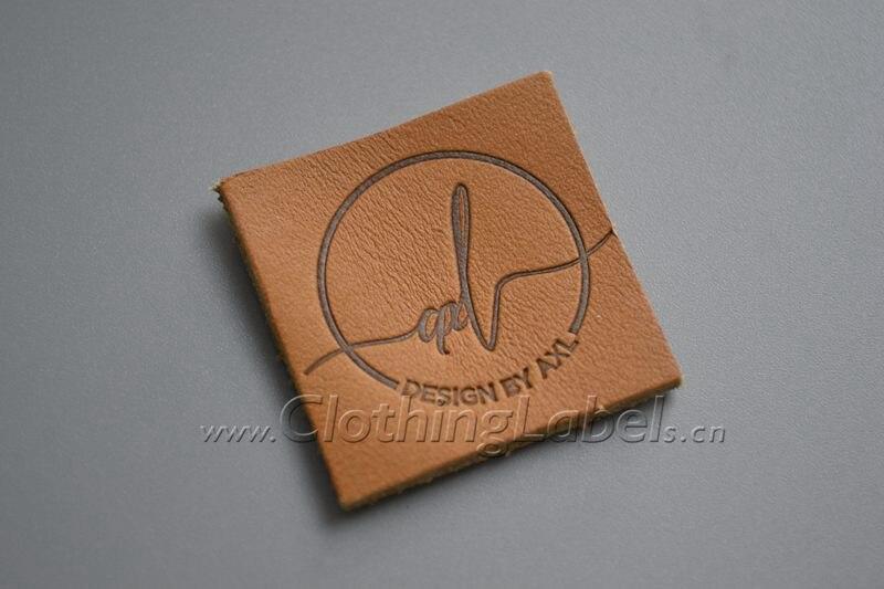 Custom leather label for denim, logo print, die cut, leather label, low MOQ