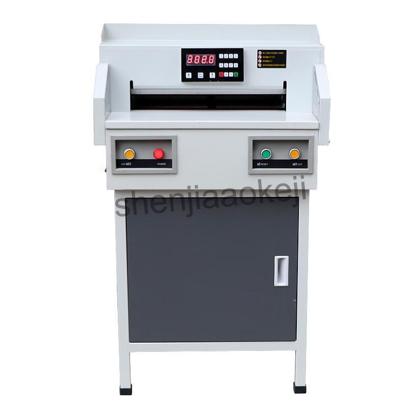 G450VS + الكهربائية ورقة القاطع التلقائي NC ورقة القاطع 450 مللي متر A3 قطع الورق آلة A3 حجم ورقة المتقلب 220V (50Hz) 1 قطعة