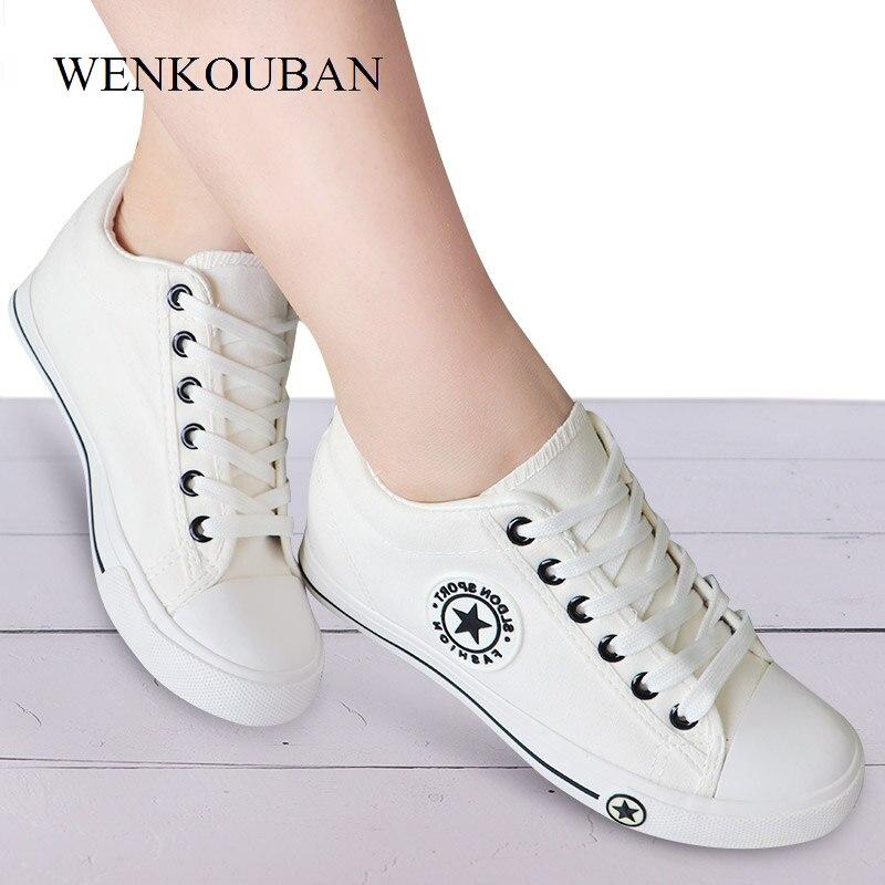 Zapatillas de deporte de cuña de verano para Mujer, zapatillas de lona informales para Mujer, canasta blanca, zapatillas para Mujer, zapatillas de deporte para Mujer de 5 cm de altura para Mujer