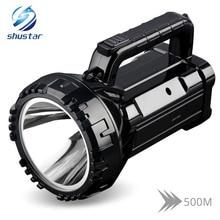 Linterna LED brillante recargable linterna 20W reflector de alta potencia construido en 2800mAh batería de litio dos modos de trabajo