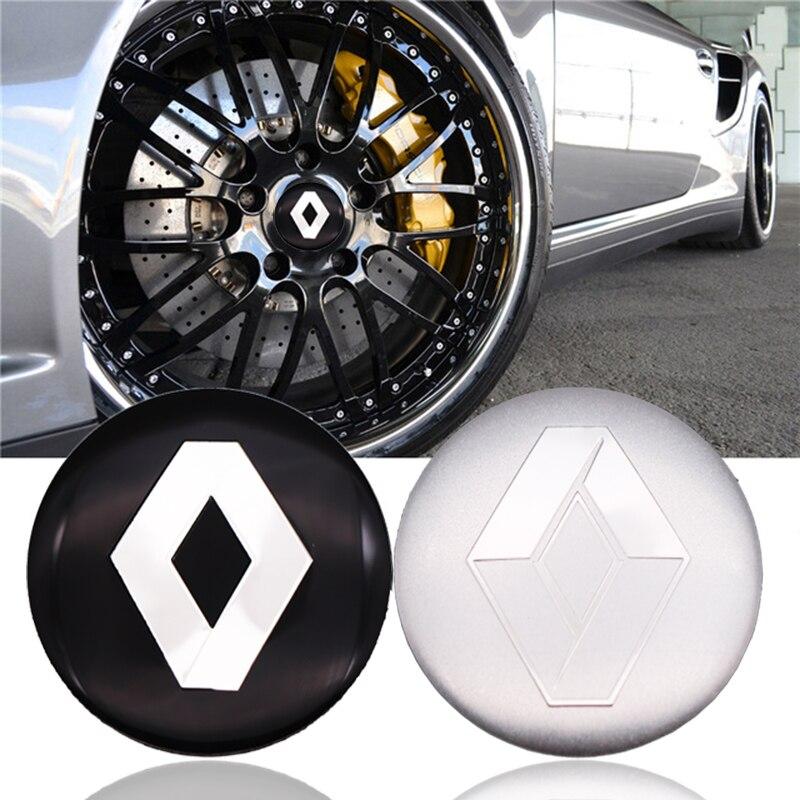 4 Uds coche tapacubos de centro de rueda pegatinas 56,5mm emblemas para Renault Megane 2 3 Duster Logan Clio Laguna 2 Captur estilo de coche