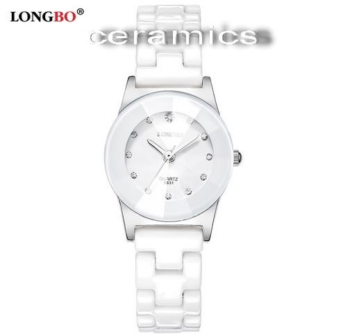 Hight Grade White Ceramic Water Resistant Business Fashion Dress Women Man Wristwatches Lady Couple