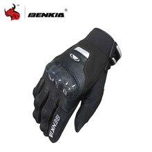Guantes BENKIA para Moto con pantalla táctil, guantes protectores para Moto Luvas, guantes Protección de fibra de carbono para carreras, guantes para Moto con dedos completos