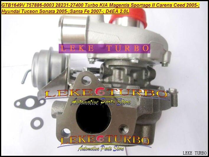 Envío Gratis GTB1649V 757886, 757886-5003S 28231-27400, 28231, 27400 para HYUNDAI Tucson Santa Fe KIA Sportage Magentis Ceed D4EA 2.0L