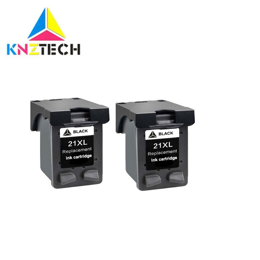 KNZ recarga 21 22 XL reemplazo de cartucho de tinta para 21 22 for21 for22 21XL 22XL Deskjet serie F2180 F2280 F4180 F380 impresora 380