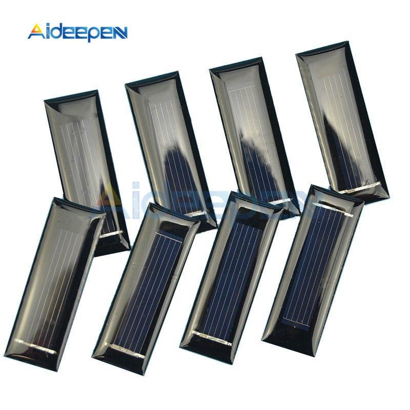10Pcs/lot 0,5 V 100ma Solar Panel Mini Solar System DIY Modul Für Batterie Handy Ladegeräte Tragbare solarzelle