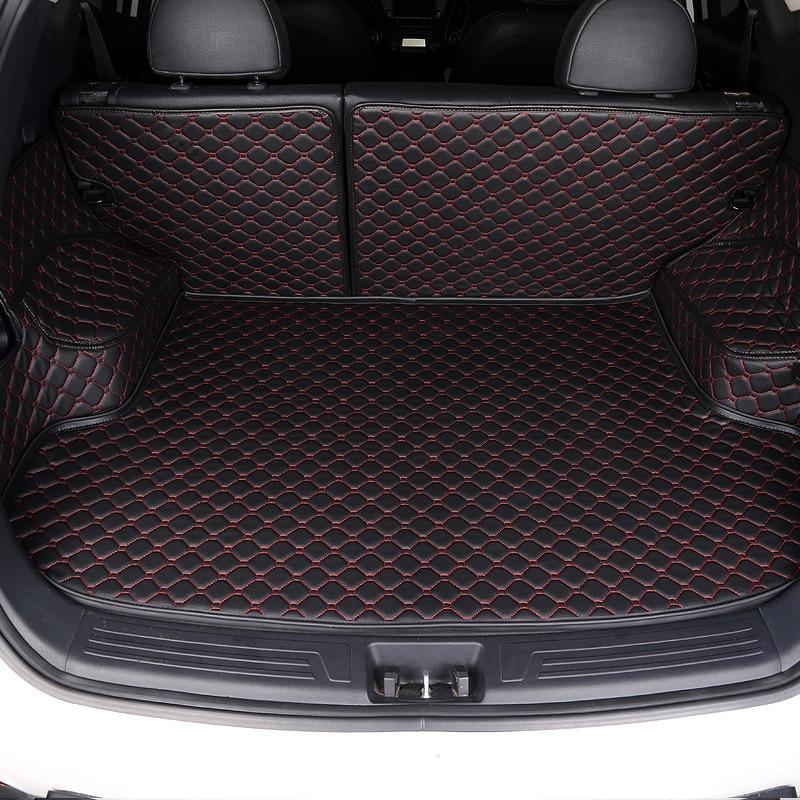 Estera de maletero de coche personalizada para Mitsubishi ASX Lancer Outlander Pajero Grandis Eclipse galant FORTIS todo rodeado de alfombrilla para maletero de coche