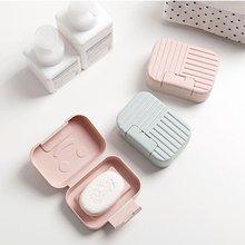 Портативный пластиковый сливной слой, дорожный мыльный ящик с крышкой, герметичный чехол для посуды, нескользящий мыльный чехол