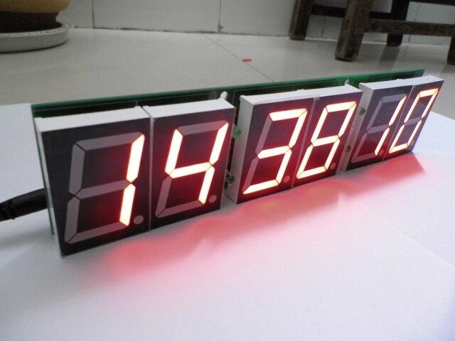 Temporizador de contagem regressiva/temporizador do jogo de basquete/Room Escape adereços/2.3 polegada display digital tubo 6
