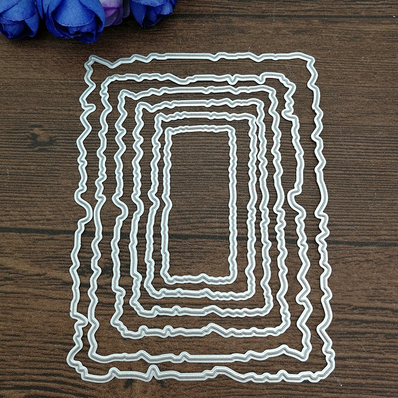 6pcs/Set Antique Frames Metal Cutting Dies Stencils for DIY Scrapbooking Album Embossing Paper Cards Decorative Crafts