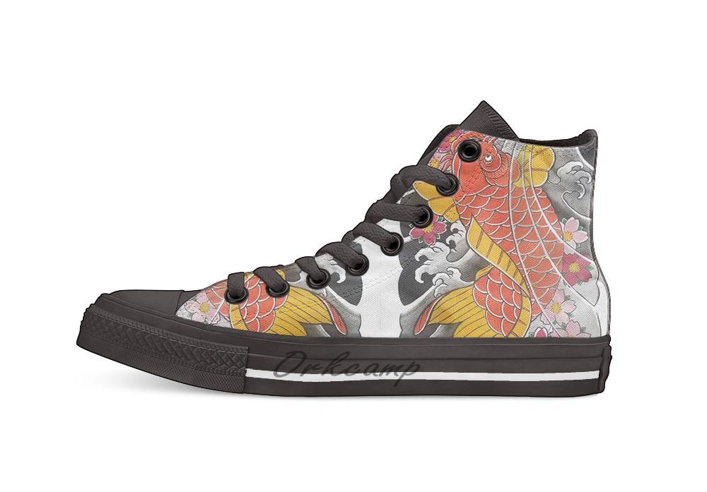 Zapatos de lona Koi x Sakura informales de alta calidad, zapatillas para Drop shipping