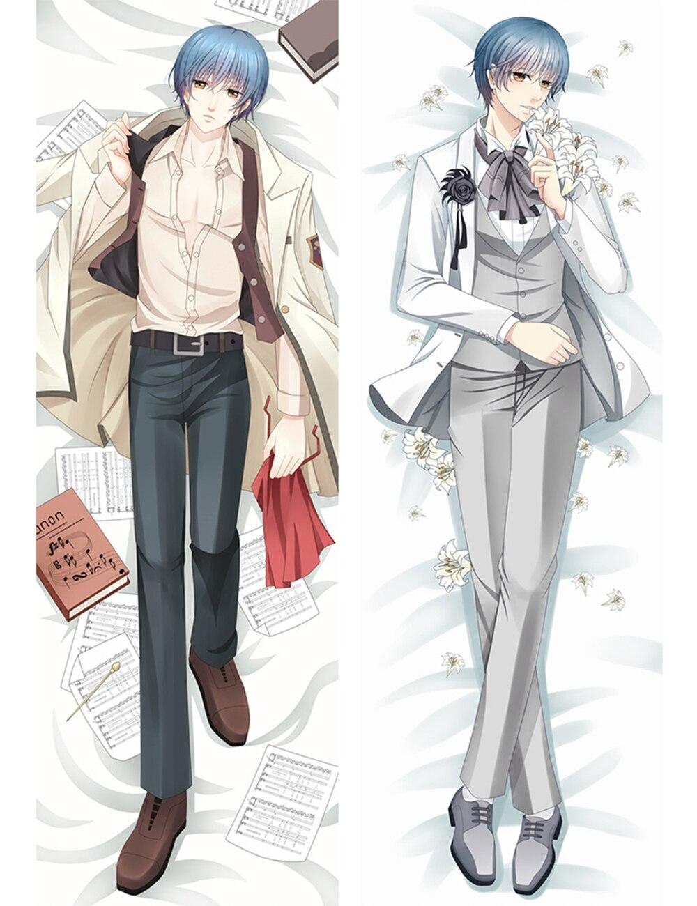Funda de almohada grande de Anime japonés Corda Tsukimori Len para hombre, funda de cama BL Dakimakura, fundas de almohada 68083