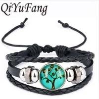 qiyufang vintage bracelet bangle lift art picture best gift for valentines day french leverback bracelet bangle women