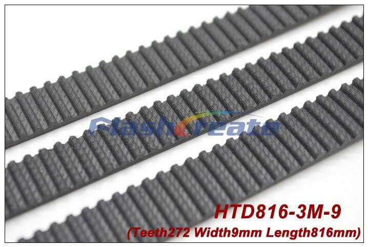 5pcs HTD3M belt 816 3M 9 length 816mm width 9mm 272 teeth 3M timing belt rubber closed-loop belt 816-3M S3M Belt Free shipping