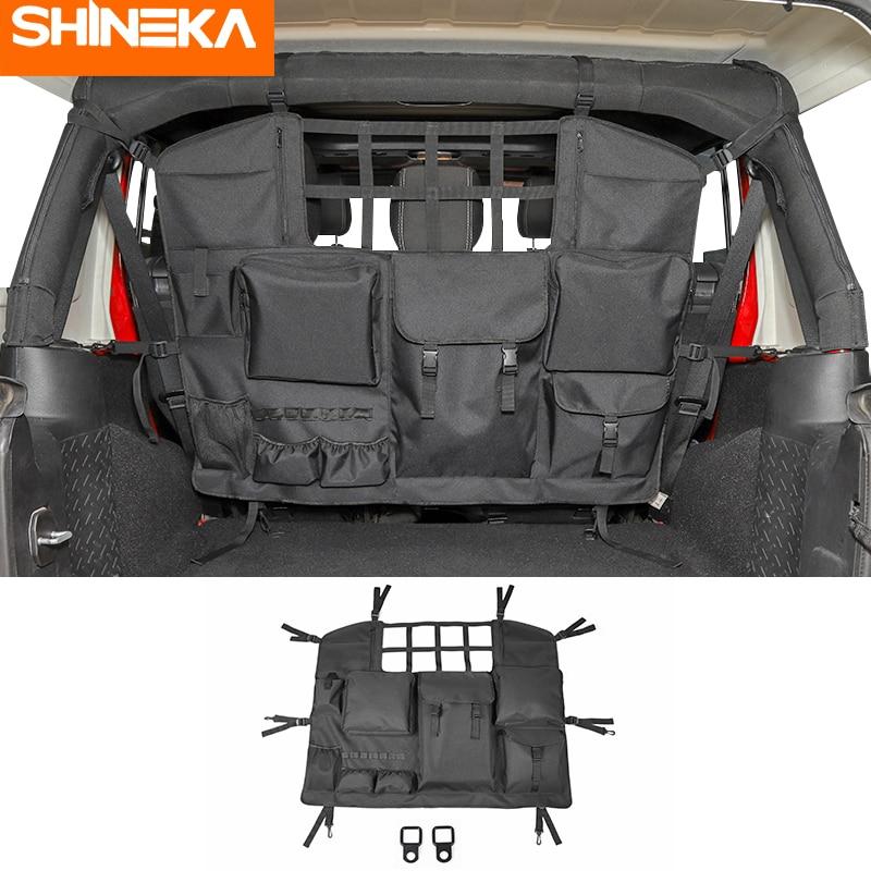 SHINEKA укладка Tidying для Jeep Wrangler JK JL 2007-2020 сумка для хранения на спинку сиденья для Jeep Wrangler аксессуары JK JL 2019 2010