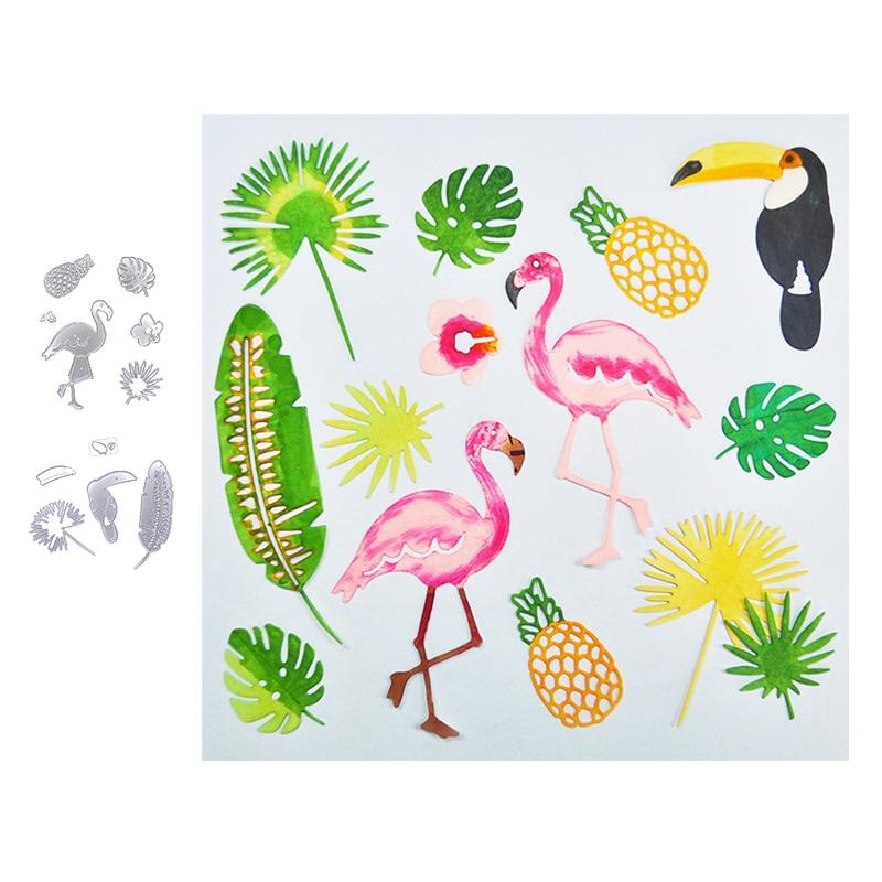 Happymems troqueles de corte de metal plantilla decoración con flamencos manualidades de papel de álbum de recortes cuchillo molde de cuchilla perforadora de plantillas troqueles