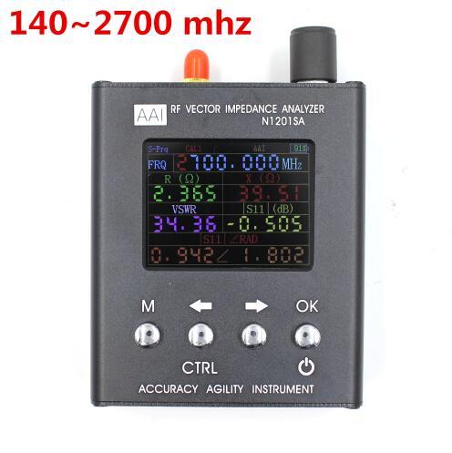 Alcance de frequência uv 140 mhz-2700 mhz e n2061sa da faixa de frequência 1.11 mhz-1300 mhz do rf gsm n1201sa do analisador da antena