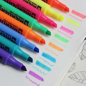 8PCS STA Highlighter Marker Pen Point Style Fluorescent Propylene Pen Decorative Diy For Graffiti Waterborne Paint