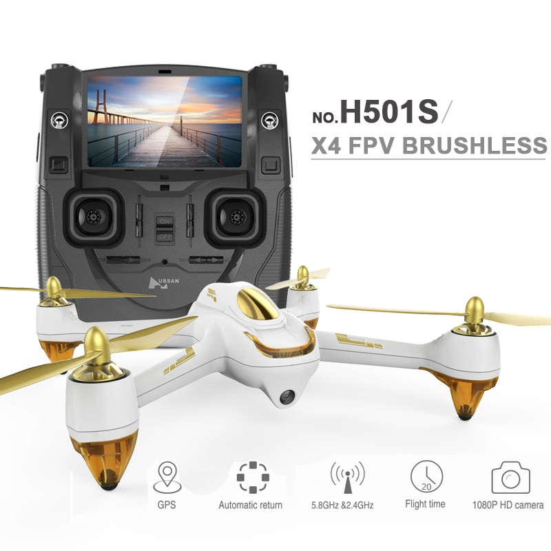 Drone cuadricóptero profesional UBSAN X4 H501S FPV con cámara 1080P GPS Sígueme y vuelva a casa helicóptero RC