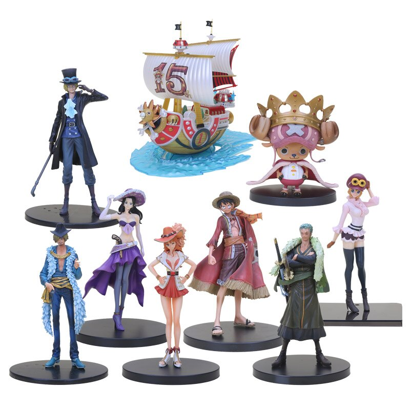 Аниме одна фигурка 15th Edition Third Sunny Pirate Ship DXF granline Sabo игрушки Санджи и Нами Зоро, Луффи, экшн-фигурки, модель игрушек