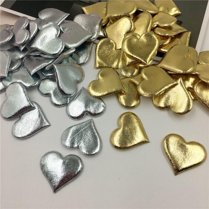 100 Uds 3,5 cm bronceado esponja en forma de corazón confeti lanzando pétalos para fiesta de matrimonio decoración de la mesa de casa decoración 62471