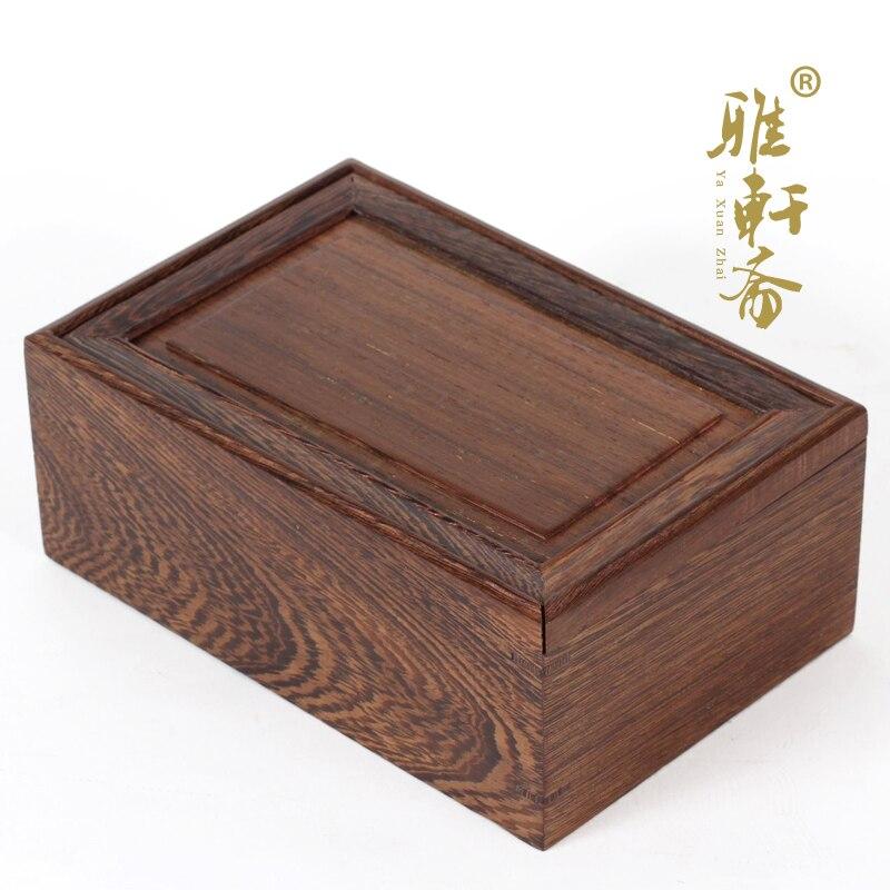 Chicken wing wooden jewelry box storage box mahogany wood decoration crafts box set three