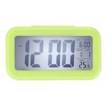 NEW Digital Alarm Clock Student Clock Large LCD Display Snooze Electronic Kids Clock Light Sensor Nightlight Office Table Clock