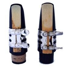 Metall alto Saxophon klarinette mundstück clip klarinette mundstück clip Instrument zubehör Carving muster von vernickelt