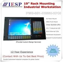 Ordinateur industriel 6U, support en Rack, écran LCD 12.1 pouces, processeur D2550 (4/5th Core i3/i5/i7 en option), 2 * emplacements PCI, 2 GLAN, 6 * COM,