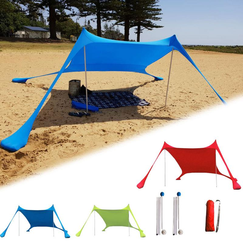 Protetor solar portátil areia livre praia tenda 210x210 pára-sol anti-uv gazebo sun sombra proteção uv sun abrigo toldo à prova de chuva