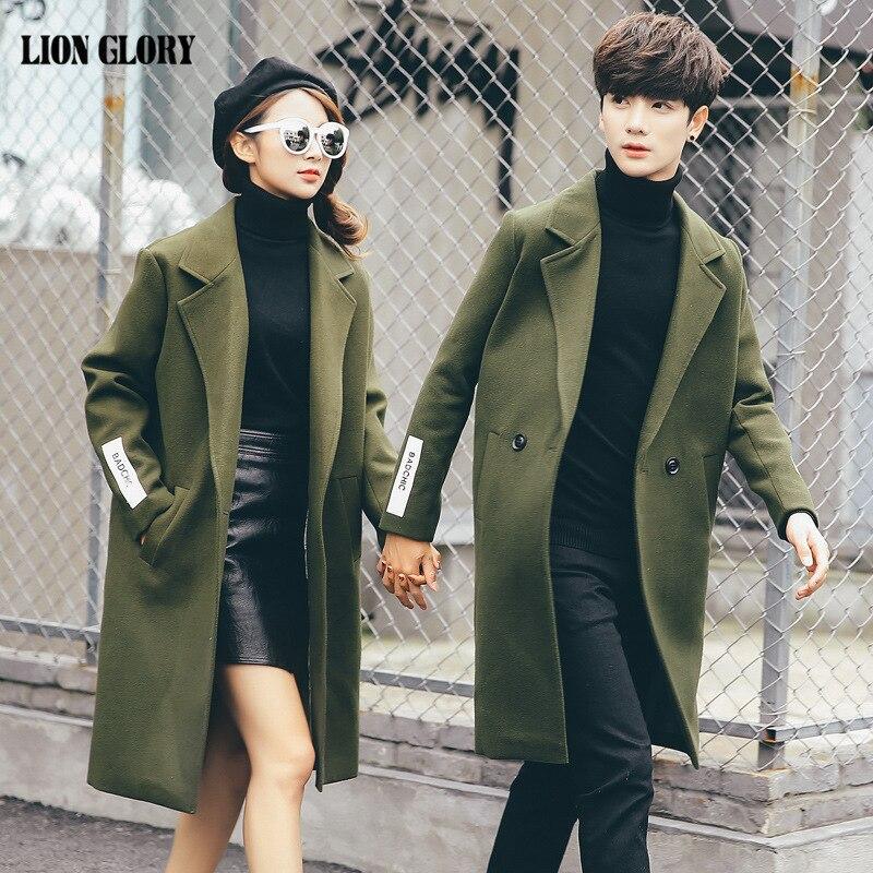 Abrigo largo de invierno para Hombre, Chaqueta de Lana, moda informal para...