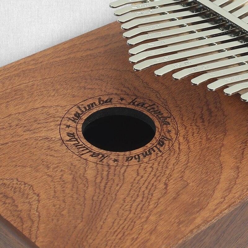 Teclas de Madeira Piano de Polegar 17 Ferramentas Barra De Alumínio Portátil de Dedo Pinho Placa Com Sintonia Martelo Instrumento Kalimba mbira Música Teclado