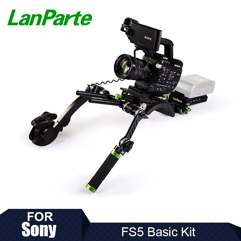 Lanparte FS5 equipo básico de cámara para Sony con brazo de extensión...