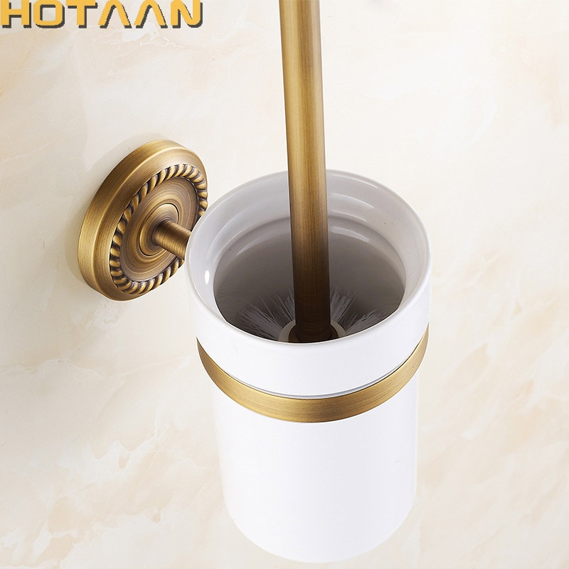 شحن مجاني فرشاة المرحاض حامل ، السيراميك الصلبة البناء النحاس قاعدة ، الحمام اكسسوارات YT-12212