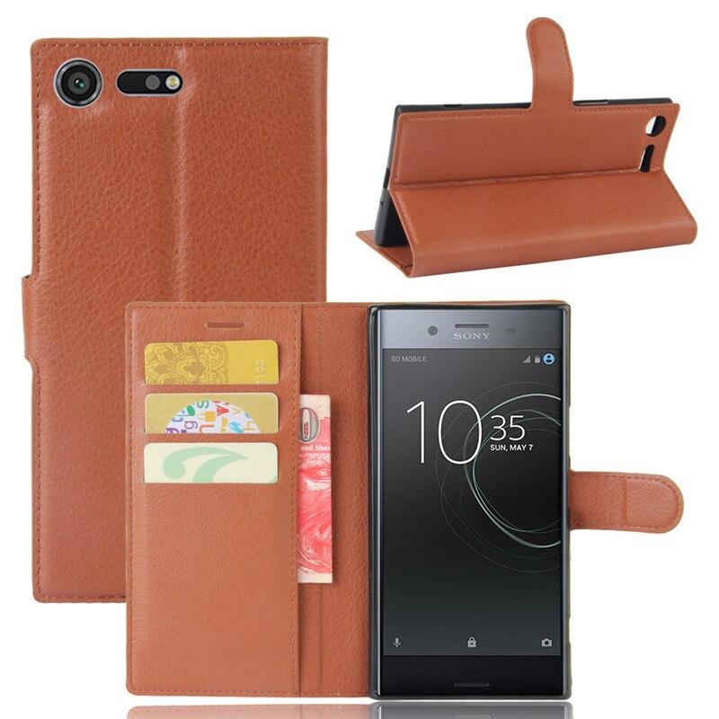 Para Sony Xperia xz, funda de teléfono Premium, funda trasera de cuero PU para Sony Xperia xz Premium G8141 G8142, Cartera de lujo, funda con soporte y tapa