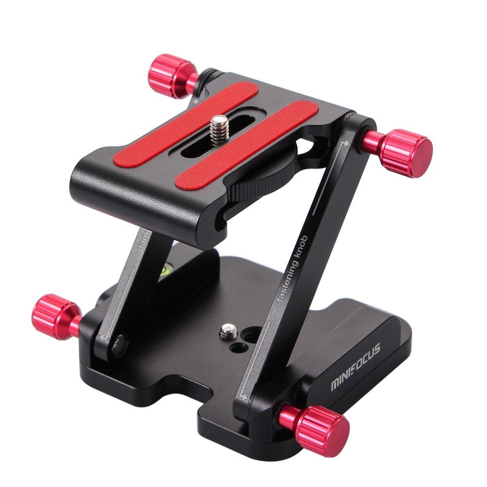 Z Flex inclinaison trépied tête pliante plaque de fixation rapide caméra en alliage daluminium support de Rail pour DSLR caméra stabilisateur Gear 4 vis