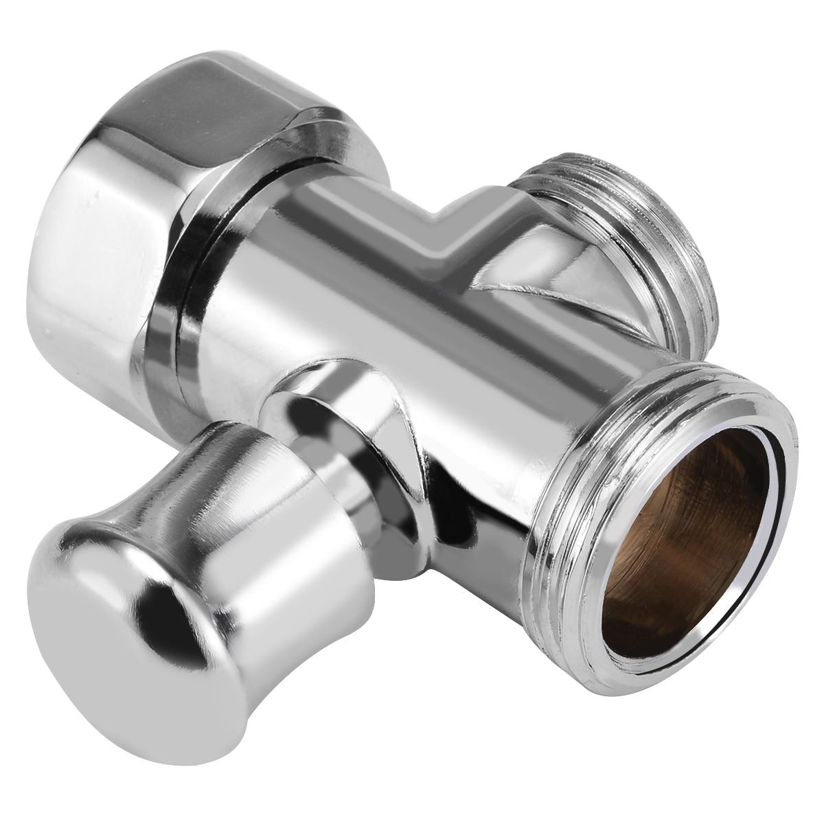 3 Way Bathroom Toilet Bidet 3/4'' & 1/2'' BSP T-adapter Shower Diverter Valve Shower Head For Toilet Bidet Shower Bathroom Tool