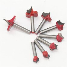 3D Router Bits 6mm Shank 3D CNC Wood Cutter Knives Cutting Tool Engraving Machine Woodworking Bit JDH99