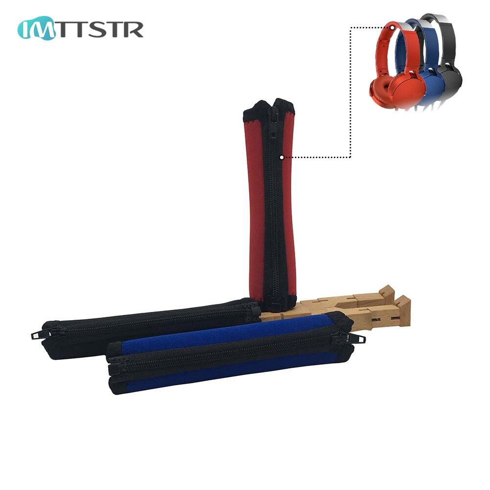 IMTTSTR diadema cojín parachoques cubierta tazas reemplazo para Sony XB700 XB950 XB950AP XB950B1 XB950BT H900N auriculares manga
