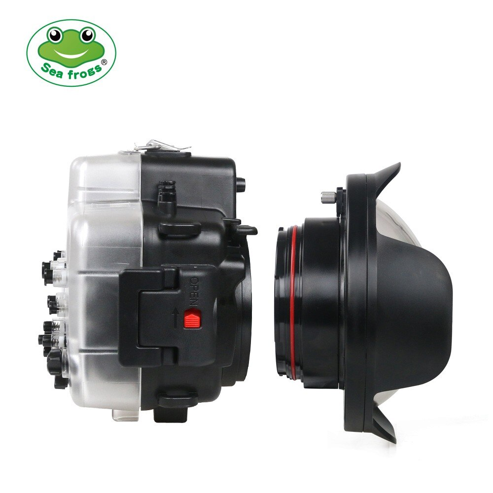 Seafrogs Newest diameter 106mm Fisheye Wide angle lens Dome Port for Canon 5D4/750D/760D Nikon D800/D810/D750/D500
