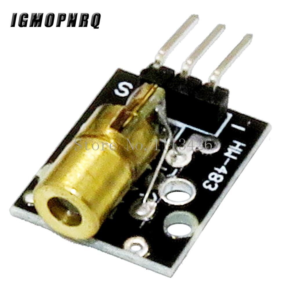 10PCS 3pin 650nm Red Laser Transmitter Dot Diode Copper Head Module KY-008 for DIY Kit