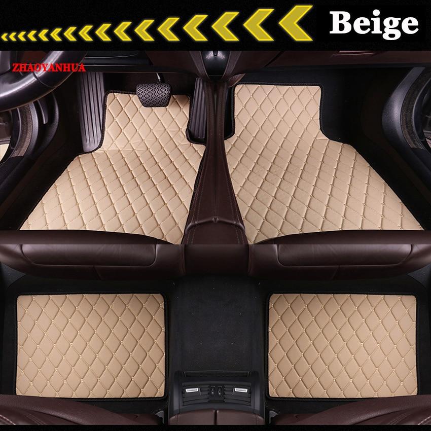 ZHAOYANHUA alfombrillas de suelo universales para todos los modelos BMW 3/4/5/6/7 Series GT M3 X3 X4 X5 X6 Z4 alfombrillas de revestimiento