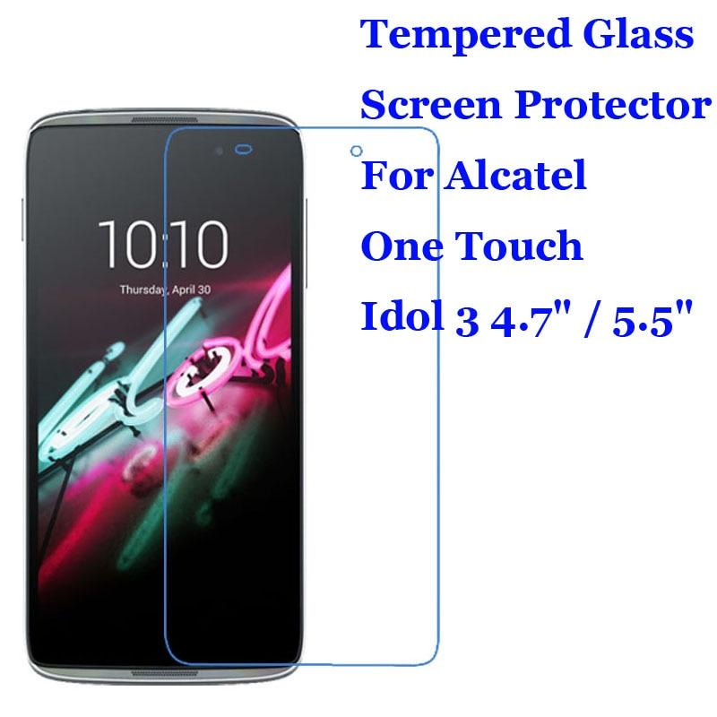 "Закаленное стекло 9H 2.5D для Alcatel Idol 3 4,7 ""/5,5"", Премиум Защита экрана для Alcatel One Touch Idol 3 6039Y/6045Y"
