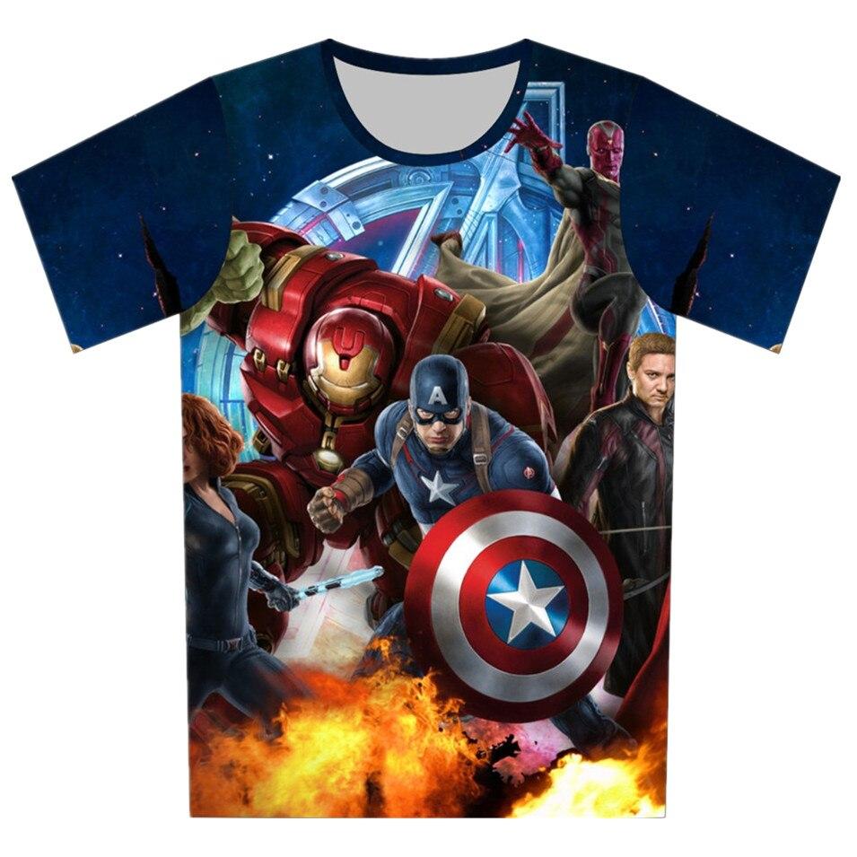 Joyonly 2019 letnie dziewczyny chłopcy Avengers 4 T koszula dziecko dzieci fajne 3d T-shirt dzieci superbohater topy dziecko marka Tee dla 4-20Y